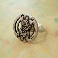 Ornate Pewter Wire Wrap Ring by lulabug