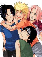 Naruto Shippuden Team 7 by GhoulSoul