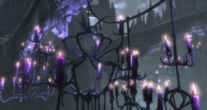 candles on cathedral by NightmareAngel810