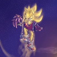 Super Sonic and Amy :remake: by Blue-Chica