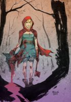 Red Riding Hood - color by kevinmellon
