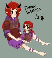 Demon Sibling Adopt  (CLOSED) by ChocoRevolution