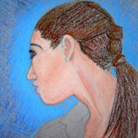 Girl Hair Oil Pastel by XpresslifeTifa