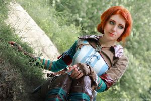 The Witcher 2 cosplay - Triss Merigold_5 by GreatQueenLina