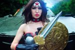 Injustice cosplay Wonder Woman Red Son by Nemu013