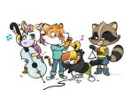 Music band by Caelys-illustrations