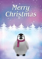Penguin Christmas Card by ACampion