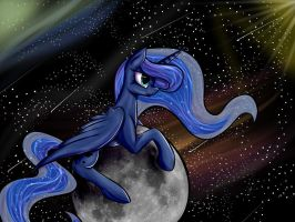 [MLP] Luna in space by Ognevitsa