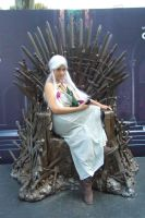 Cosplay Daenerys with Iron Throne by FAN-SNE