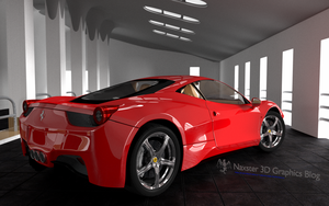 Ferrari 458 Italia final back by Olotocolo