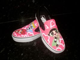 Custom Vans Powerpuff Girls by VeryBadThing