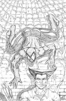 Spider-Man Sneaking up on Wolverine by RAM by ramstudios1