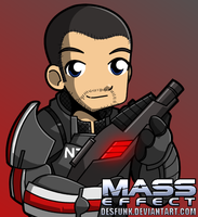 Mass Effect Male Shepard by desfunk