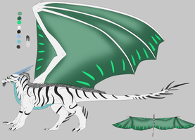 Male Royal Ice dragon DTA by Drago-dopts