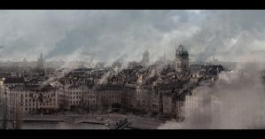 Stockholm matte painting by AndreeWallin