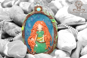 Polymer Clay and Resin Merida The Brave by Crystarbor