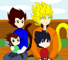 Family Photo - GokuxVegeta by aki1iniriki