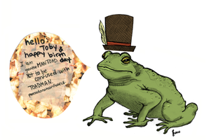gentleMAN TOAD - Happy Birthday Toby by beyourpet