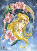 .:Commission:. La lune_color by HuyetPhung