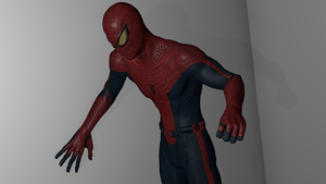 Spider-man model edit thingy v3 with new normals by Superman999