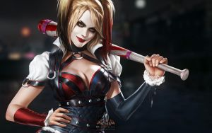 Harley Quinn Arkham Knight by paul743