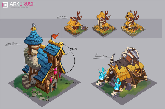 Heroes and Armies - Building Concepts 01 by ArkBrush