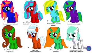 MLP Adoptables  [CLOSED] by Ninja3lf