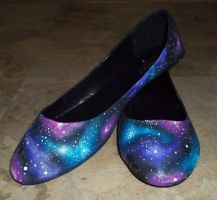 So Sorry I'm Even More Flawless Galaxy Shoes by poisons-sanity