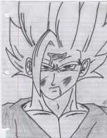Drawing of SSJ2 Gohan - 01 by DJFeLiX