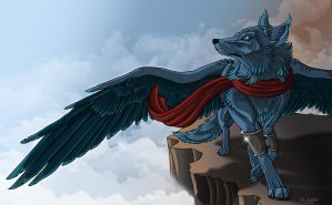 Skyward wonderer by lupinemoonfeather