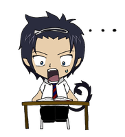 Blue Exorcist Chibi Rin by CandyAddict774