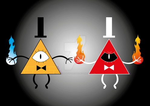 Bill Cipher by mariekelikestodrawn