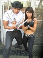 Wolverine and x-23 cosplay by pamzynha
