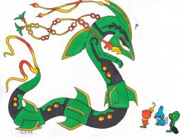 Mega Rayquaza and friends (Christmas gift) by AnnissXD