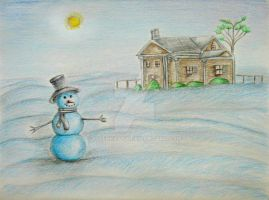 Snowman by 123thuraya