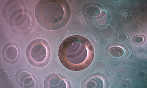 Circles EVERYWHERE - Fractal Art by CMWVisualArts