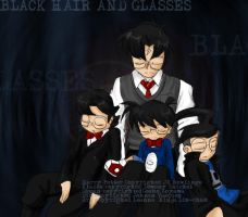 Black hair and Glasses by galaxyofgover