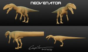 Neovenator model - wip 20151228 by c-compiler