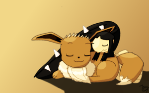Eevee and Mawile :3 by burikillo