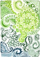 Green sea design by yael360