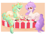 Pony teaparty by TwitchyKismet