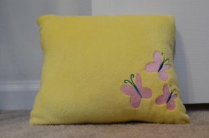 Fluttershy Pillow by poniesNpillows
