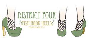 Capitol Couture Competition #1: Fishhook/Net Heels by EveryGirlYouKnow