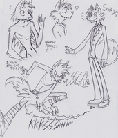 Spear Sketches by zombiecatfire13