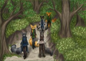 Walking through the forest by LunozvezdnaiaCoon