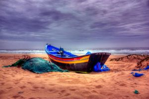 Some boat on some beach by goncalo-lopes