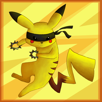 Ninja pikachu is ninja by Finchwing