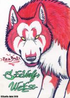 RedBack The Blind Wolf by Lorfis-Aniu
