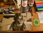 Young Mark KNOPFLER WIP by lilie1111