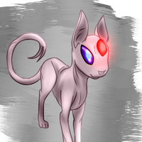 Mirek the Espeon by PuddingzWolf